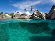 電腦桌面壁紙高清加勒比海灘風光賞析