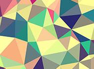 彩色三角形可愛的卡通背景圖片