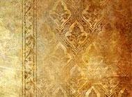 金色花纹相框精美墙纸高清背景图片