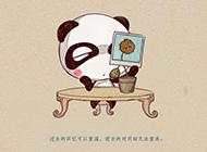 潘潘達可愛卡通熊貓高清桌面壁紙鑒賞