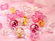水晶糖果精致唯美課件素材圖片