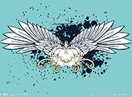 帶翅膀的唯美卡通背景圖素材