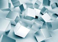 銀白色立體方格個性背景圖