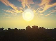 唯美日出的高清背景图