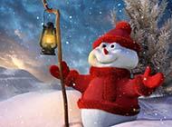 高清经典桌面壁纸圣诞节雪人图片赏析