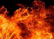 黑色炙熱火焰精美背景圖片