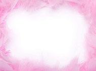 羽毛粉红色ppt背景图片