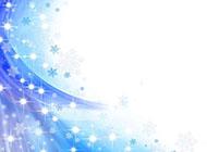雪花飄飄藍色精美背景圖