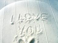 I love you白色唯美qq背景图片