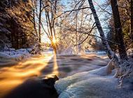 桌面養眼壁紙冬天自然美景