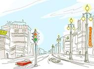 簡筆城市風光高清壁紙