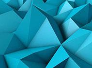 浅蓝色立体三角形山峰qq背景图片