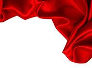 婚庆红色绸缎背景布置图片