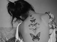 歐美滿背紋身女生霸氣個性圖片