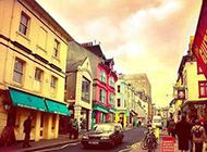 LOMO风格浪漫街头美景图片