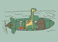 非主流可爱的长颈鹿素材图片
