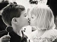 甜蜜亲吻亲密情侣唯美图片