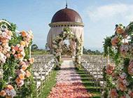 唯美純白婚禮場地夢幻圖片