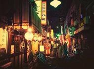 日本复古浪漫街头美景图片