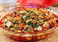 香辣可口的川菜麻婆豆腐圖片