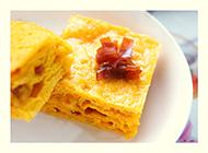 金黄色煎饼下午茶美食图片