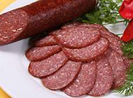 经典的西餐前菜萨拉米肠图片