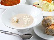 美味西餐西式奶油濃湯圖片