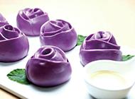 紫薯玫瑰饅頭營養美味