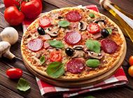 美味的披萨高清图片