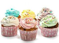 花型杯子蛋糕色彩好看诱人