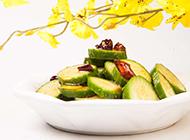涼拌秋葵新鮮蔬菜美食