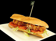 德式香腸漢堡圖片素材