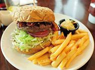 西餐美食田園漢堡圖片