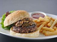 西式美食牛肉汉堡面包图片