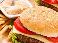 美味的巨無霸牛肉漢堡包圖片