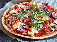 鲜美的意大利小吃田园披萨图片