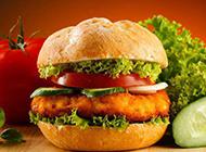 超好吃的雞肉漢堡圖片