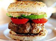 好吃的华莱士牛肉夹心汉堡