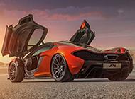 橙色的邁凱輪P1超跑高清大圖