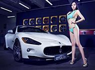 白色瑪莎拉蒂GTS跑車高清圖片