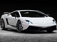 白色的兰博基尼盖拉多跑车图片