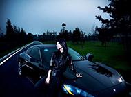 瑪莎拉蒂3200GT跑車與美女車模圖片