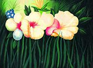 花朵与植物油画图片