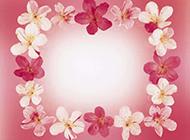 唯美花朵边框素材