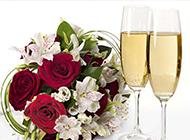 香槟与红玫瑰艺术图片素材
