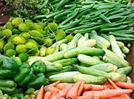 菜市场的新鲜蔬菜图片