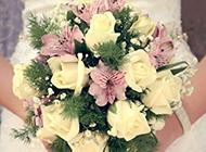 新娘的手捧花唯美图片