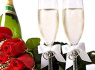 浪漫情人節香檳玫瑰圖片