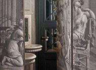 富有艺术气息的别墅卫生间隐形门效果图