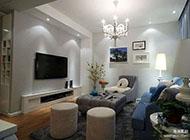 二居室浅蓝色精致婚房装修效果图